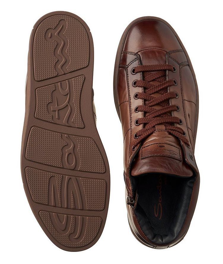 High-Top Leather Sneakers image 2