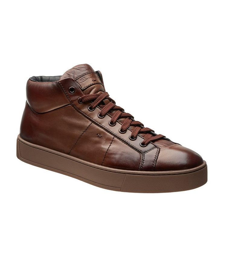 High-Top Leather Sneakers image 0