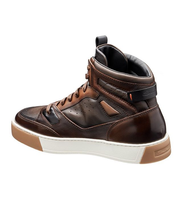 Leather High-Top Sneakers picture 2