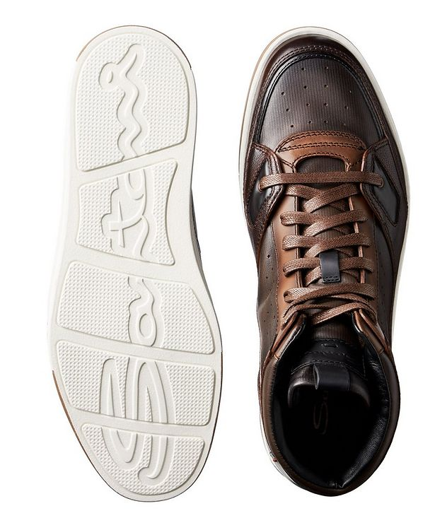 Leather High-Top Sneakers picture 3