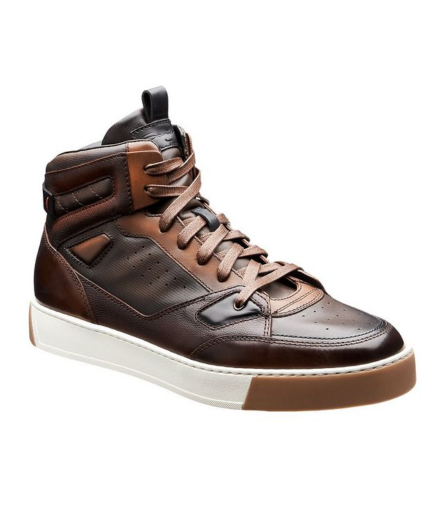 Leather High-Top Sneakers picture 1