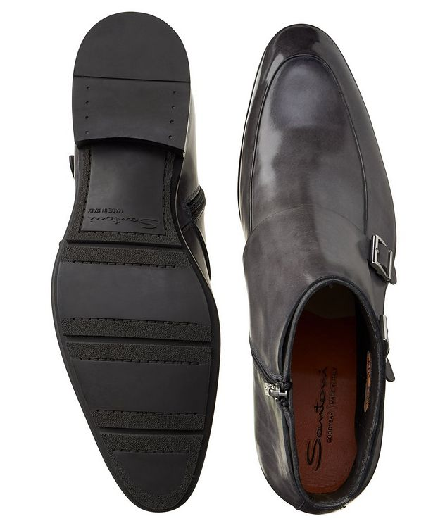 Leather Double-Monk Boots picture 3