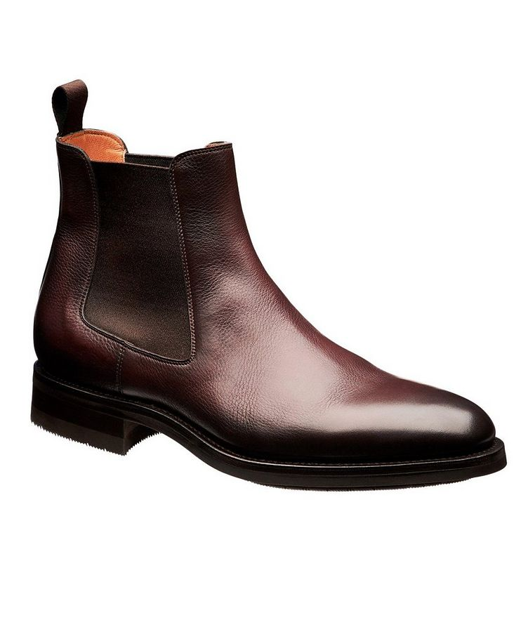 Burnished Leather Chelsea Boots image 0