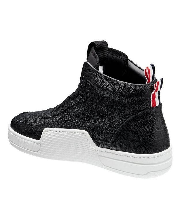 Basketball High-Top Leather Sneakers picture 2