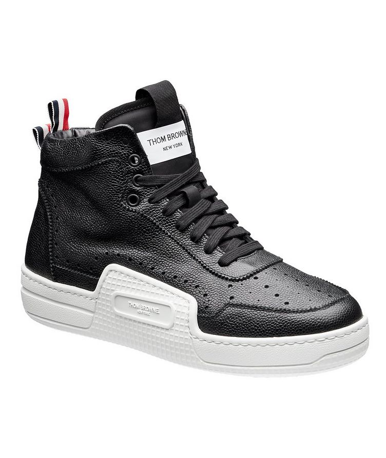 Basketball High-Top Leather Sneakers image 0
