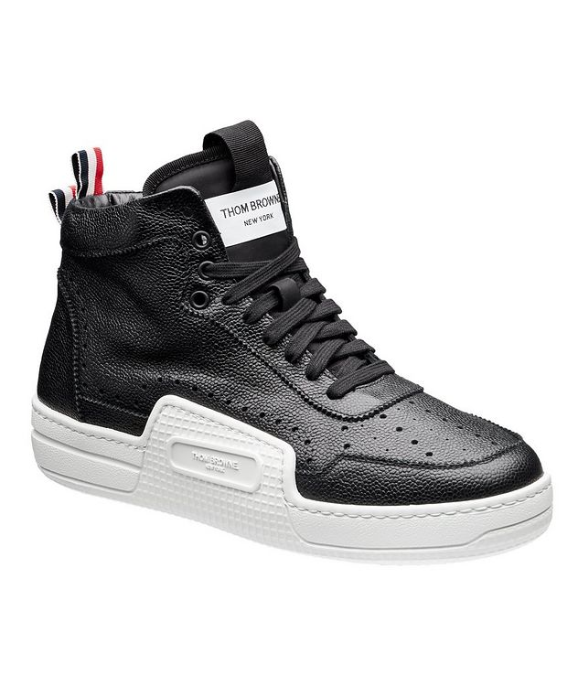 Basketball High-Top Leather Sneakers picture 1
