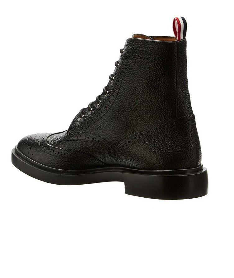Wingtip Pebbled Leather Boots image 1