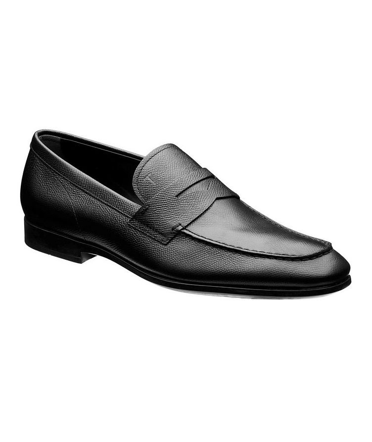 Leather Penny Loafers image 0