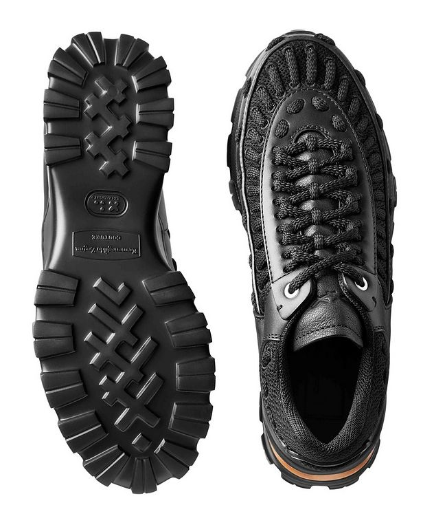 Claudio Leather & Mesh Sneakers picture 3
