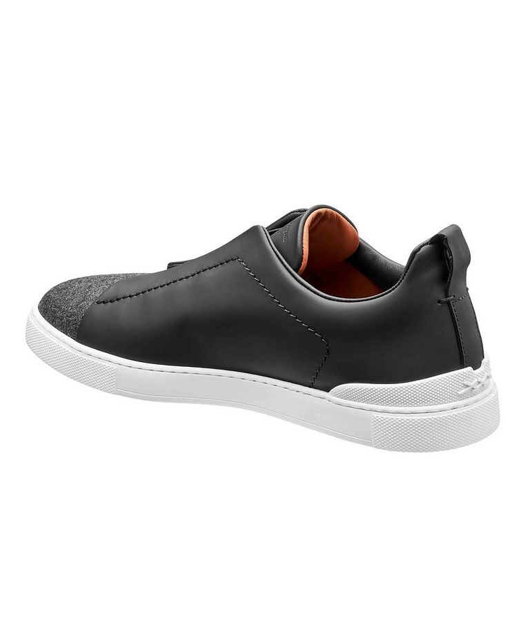 Leather Triple Stitch Sneakers image 1