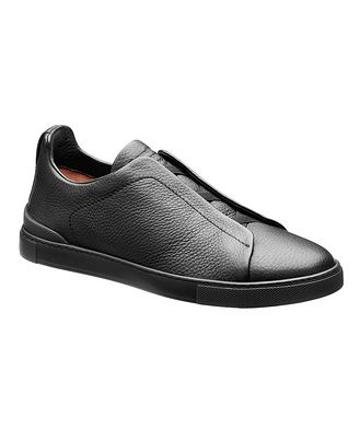 Ermenegildo Zegna Leather Triple Stitch Sneakers