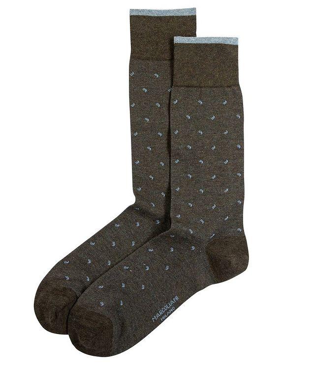 Paisley Cotton-Blend Socks picture 1