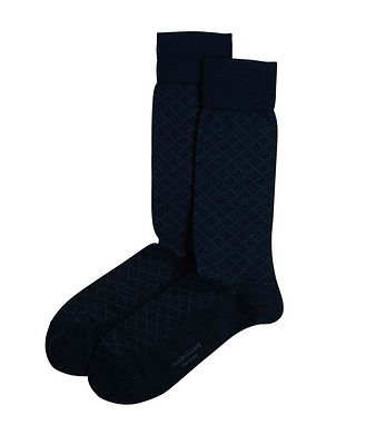 Marcoliani Milano Print Cotton-Blend Socks