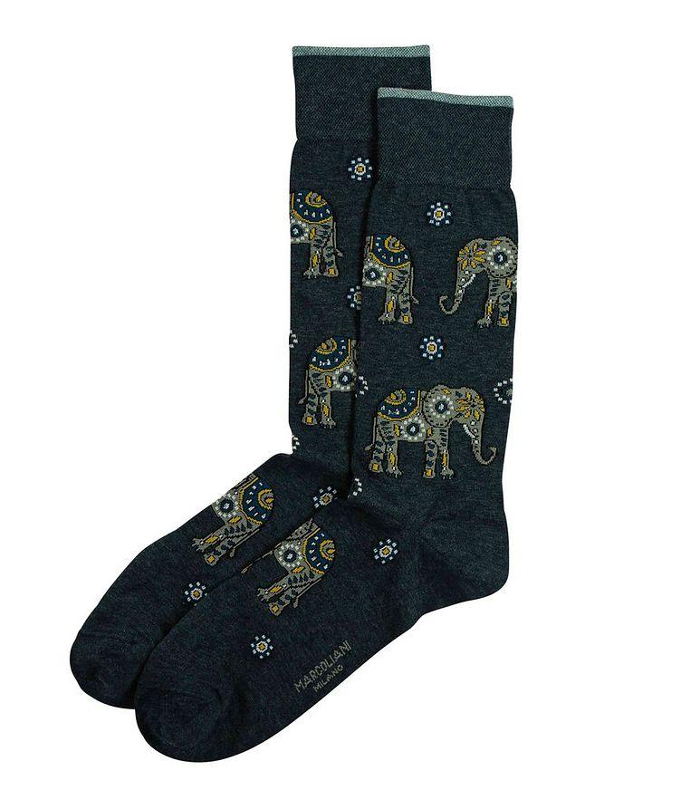 Elephant Printed Socks image 0