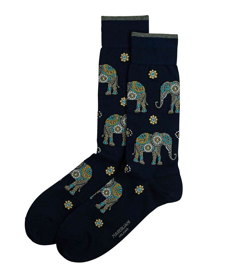 Elephant Printed Socks image 0