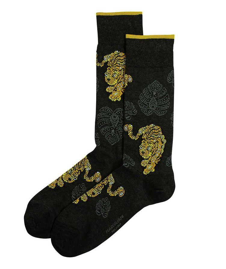Tiger Printed Socks image 0