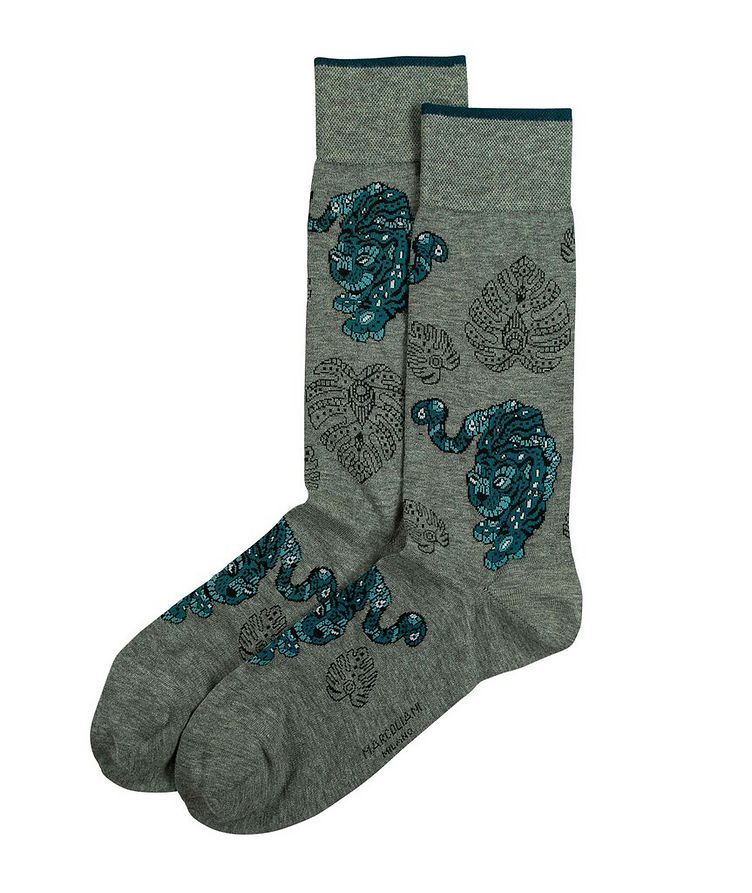 Tiger Printed Socks image 0