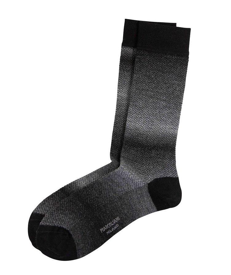 Textured Wool Blend Socks image 0