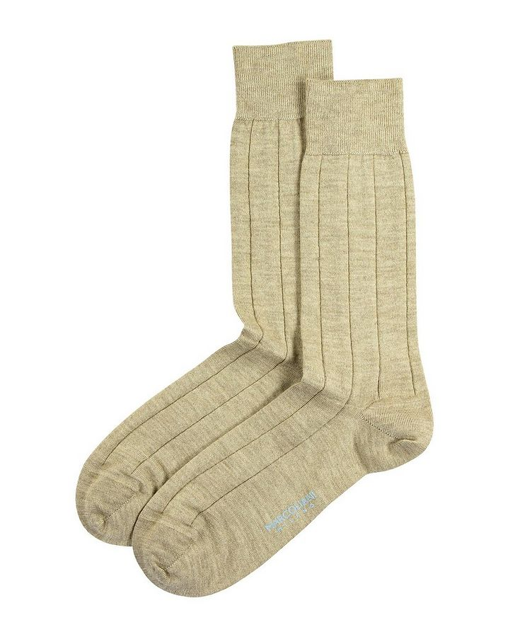 Ribbed Cashmere-Silk Socks image 0