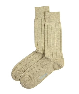 Marcoliani Milano Chaussettes en tricot côtelé de cachemire et soie