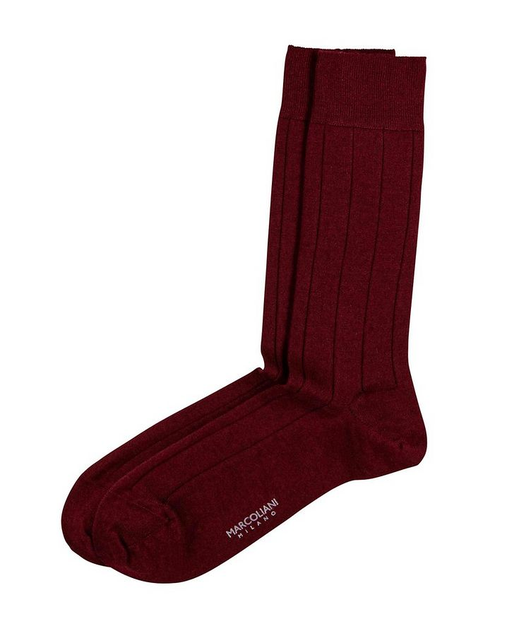Ribbed Cashmere-Silk Socks image 0