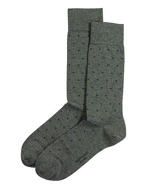 Marcoliani Milano Dotted Cotton-Blend Socks