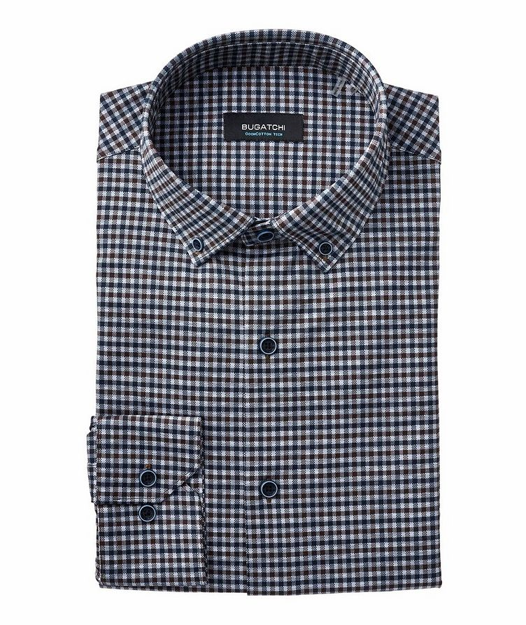 Checked Stretch-Cotton Shirt image 0