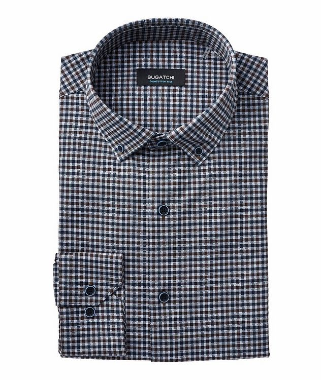 Checked Stretch-Cotton Shirt picture 1