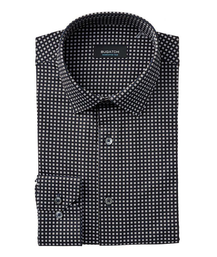 Geometric Stretch-Cotton Shirt image 0