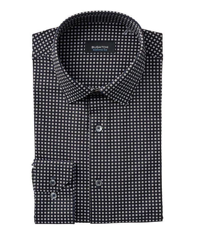 Geometric Stretch-Cotton Shirt picture 1