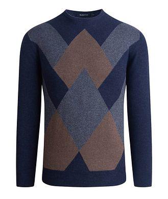 Bugatchi Wool-Cashmere Argyle Sweater