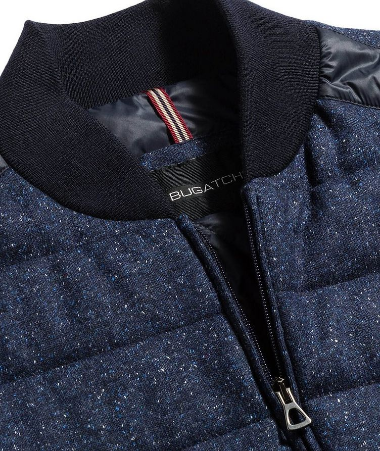Speckled Wool-Silk Bomber Jacket image 1