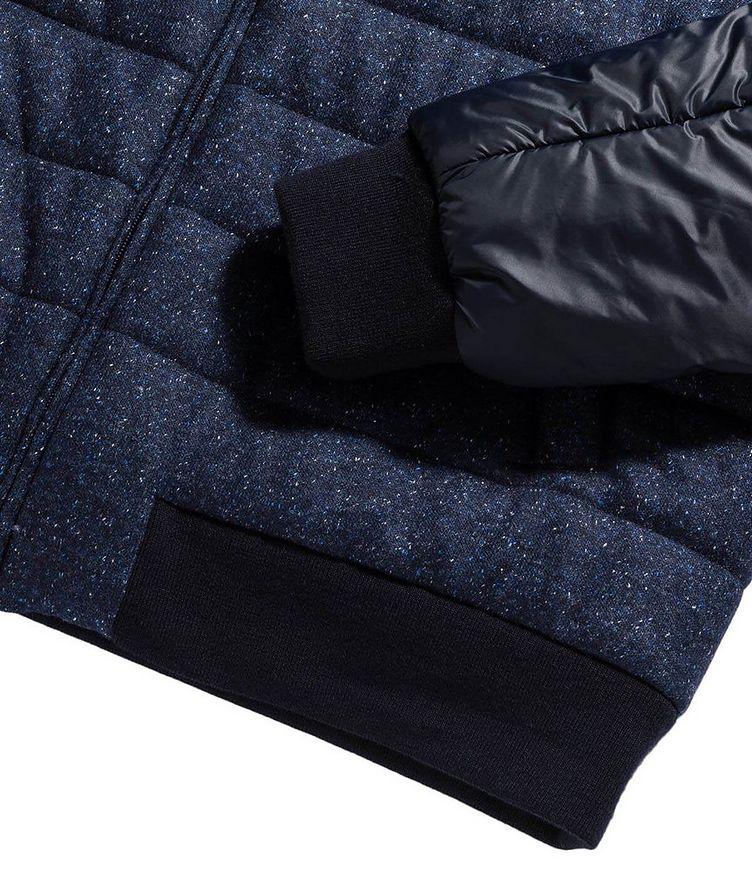 Speckled Wool-Silk Bomber Jacket image 2