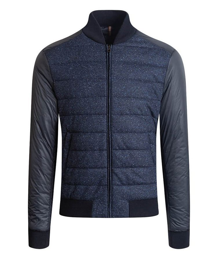 Speckled Wool-Silk Bomber Jacket image 0