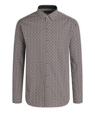 Bugatchi Chemise en coton à motif géométrique
