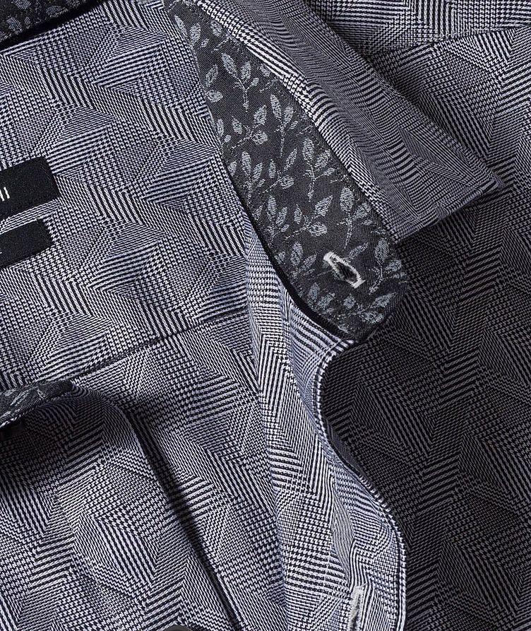 Geometric-Checked Cotton Shirt image 1