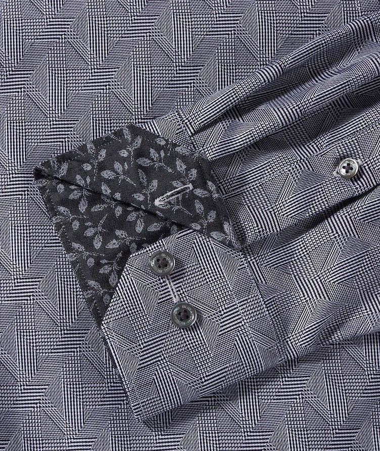 Geometric-Checked Cotton Shirt image 2