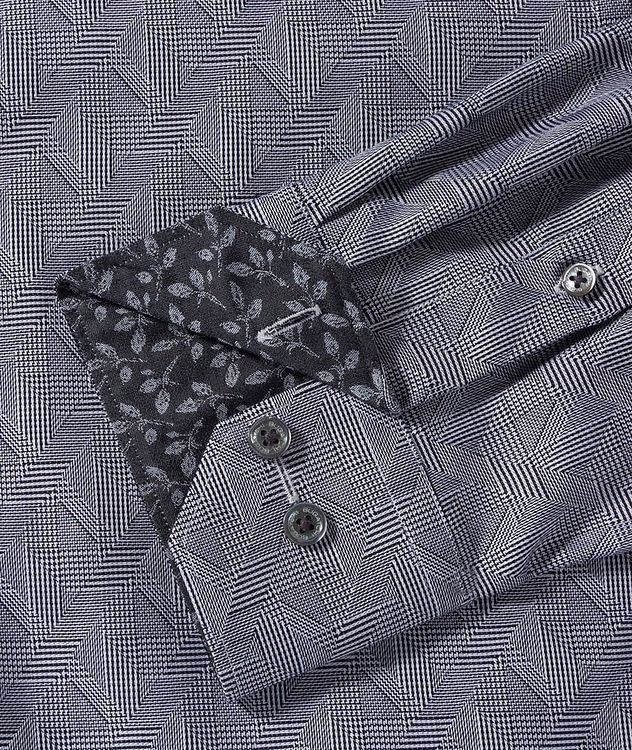 Geometric-Checked Cotton Shirt picture 3