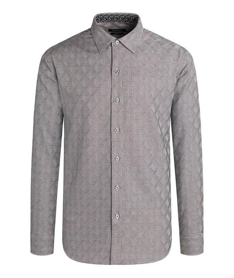 Geometric-Checked Cotton Shirt image 0