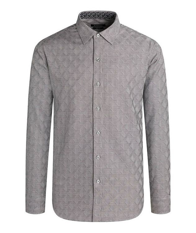 Geometric-Checked Cotton Shirt picture 1