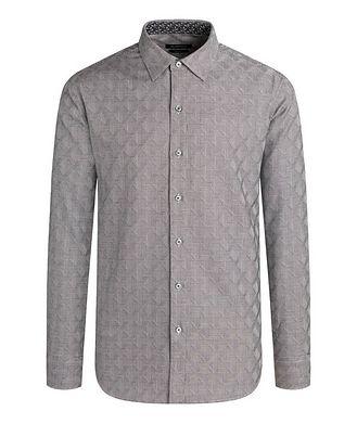Bugatchi Geometric-Checked Cotton Shirt