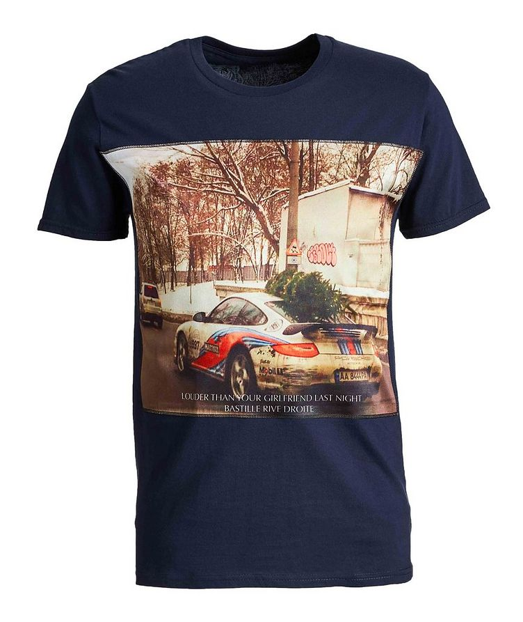 Sports Car Printed Cotton T-Shirt image 0