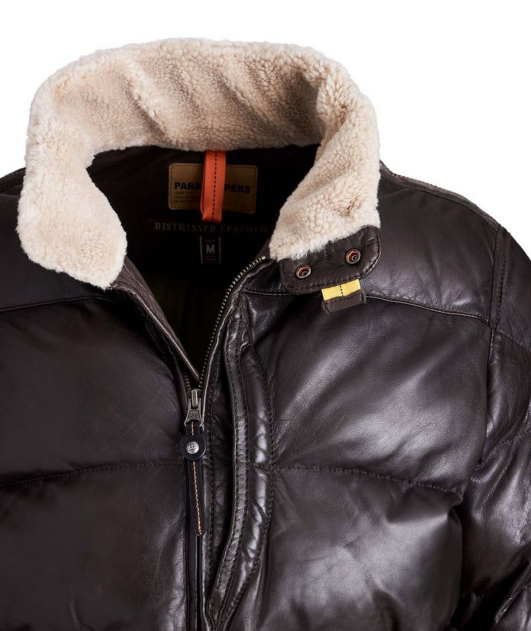 Alf Leather Puffer Jacket image 2