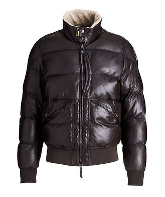 Parajumpers Alf Leather Puffer Jacket