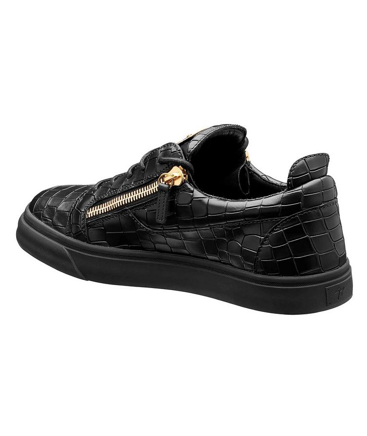 Frankie Crocodile-Embossed Low-Tops image 1