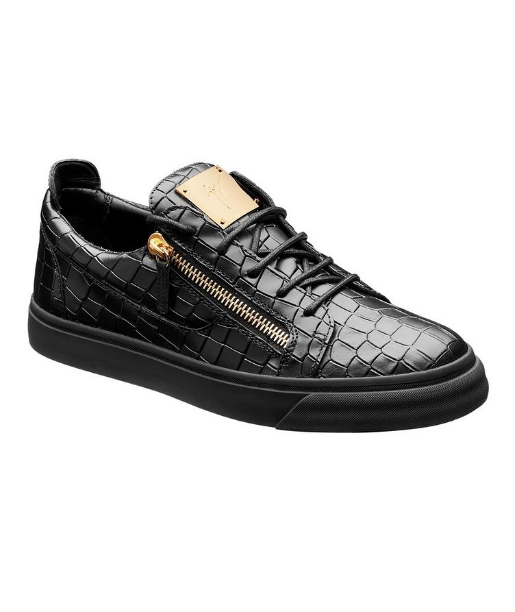 Frankie Crocodile-Embossed Low-Tops image 0