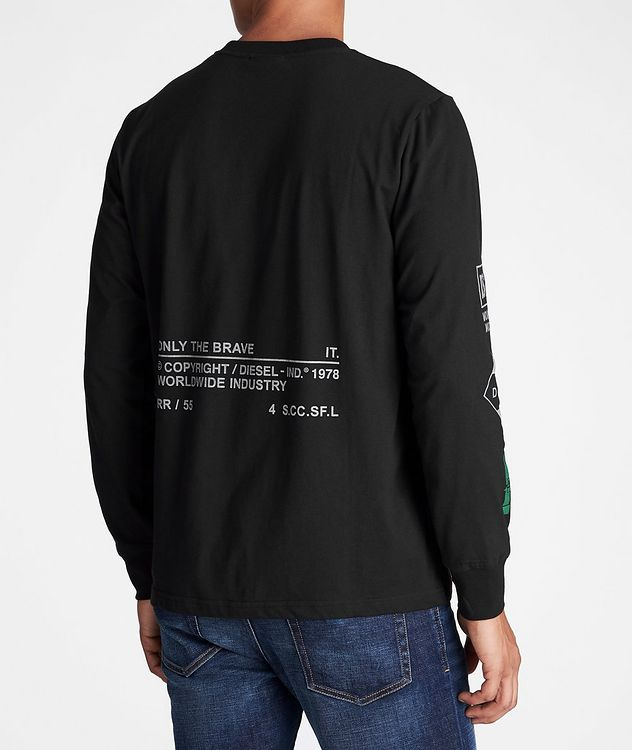 Long-Sleeve Recycled Cotton-Blend T-Shirt picture 3