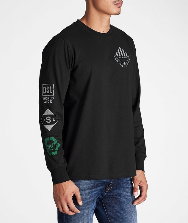 Long-Sleeve Recycled Cotton-Blend T-Shirt picture 4