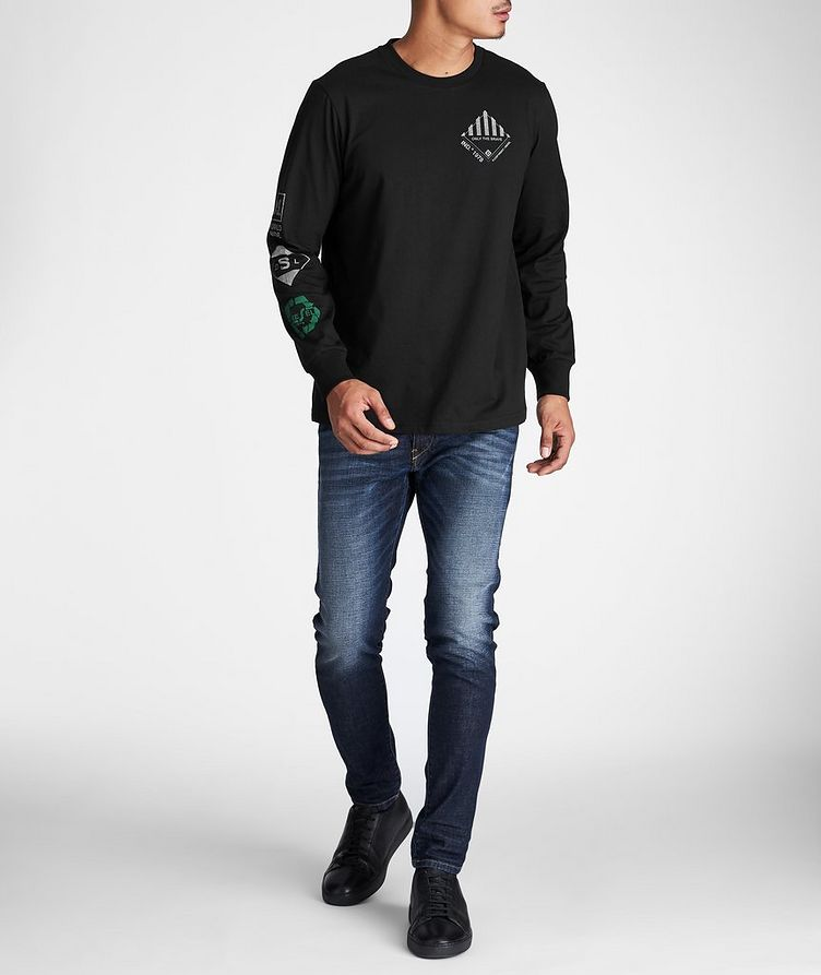 Long-Sleeve Recycled Cotton-Blend T-Shirt image 4