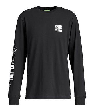 Diesel Long-Sleeve Graphic T-Shirt